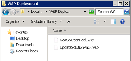 Adding and Deploying SharePoint 2010 .WSP Solutions (1/6)