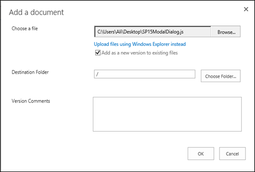 Open Pages and Forms in Modal Dialog For SharePoint 2013 (5/6)