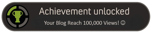 Achievement Unlocked: Reach 100,000 Views :) (1/6)